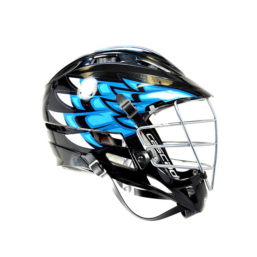 Metallic blue headwrapz wingz decals