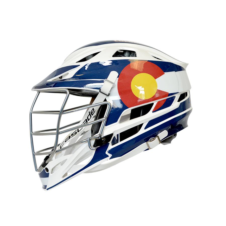 Colorado Flag HeadWrapz Decals - Lacrosse helmet decals
