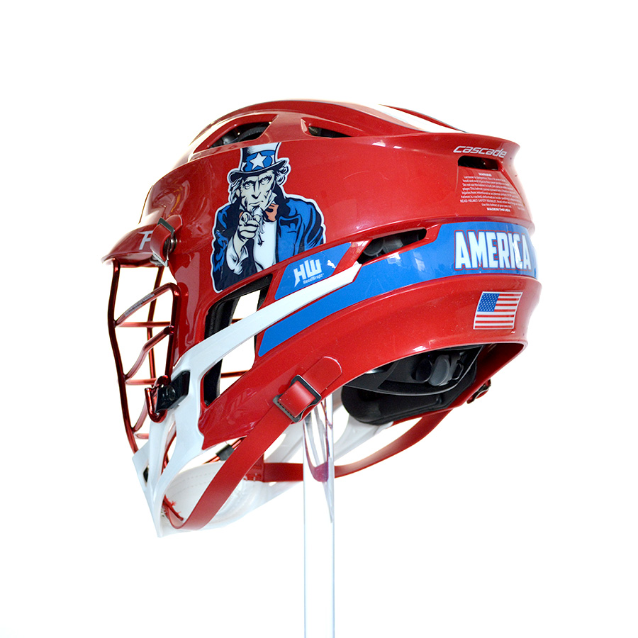 USA Uncle Sam HeadWrapz Decals HeadWrapz - Lacrosse helmet decals