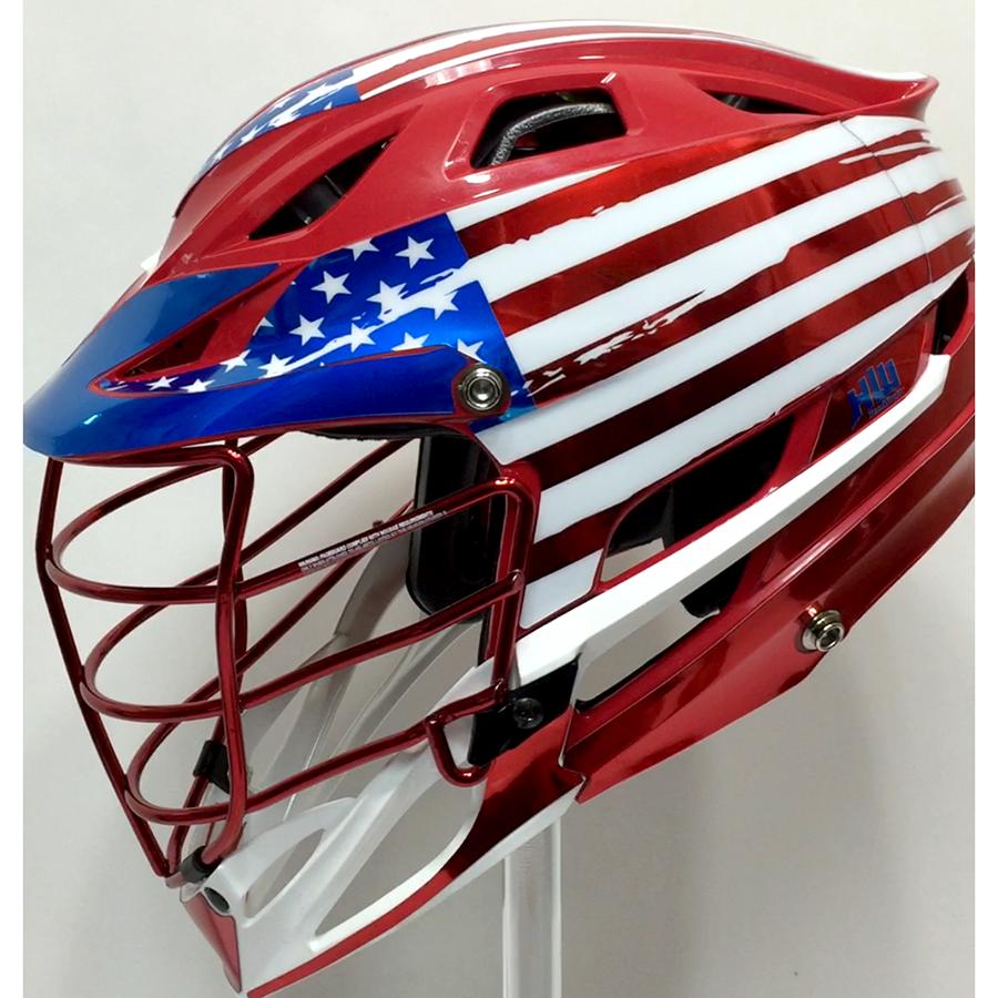 The USA Chrome Wrap HeadWrapz - Lacrosse helmet decals
