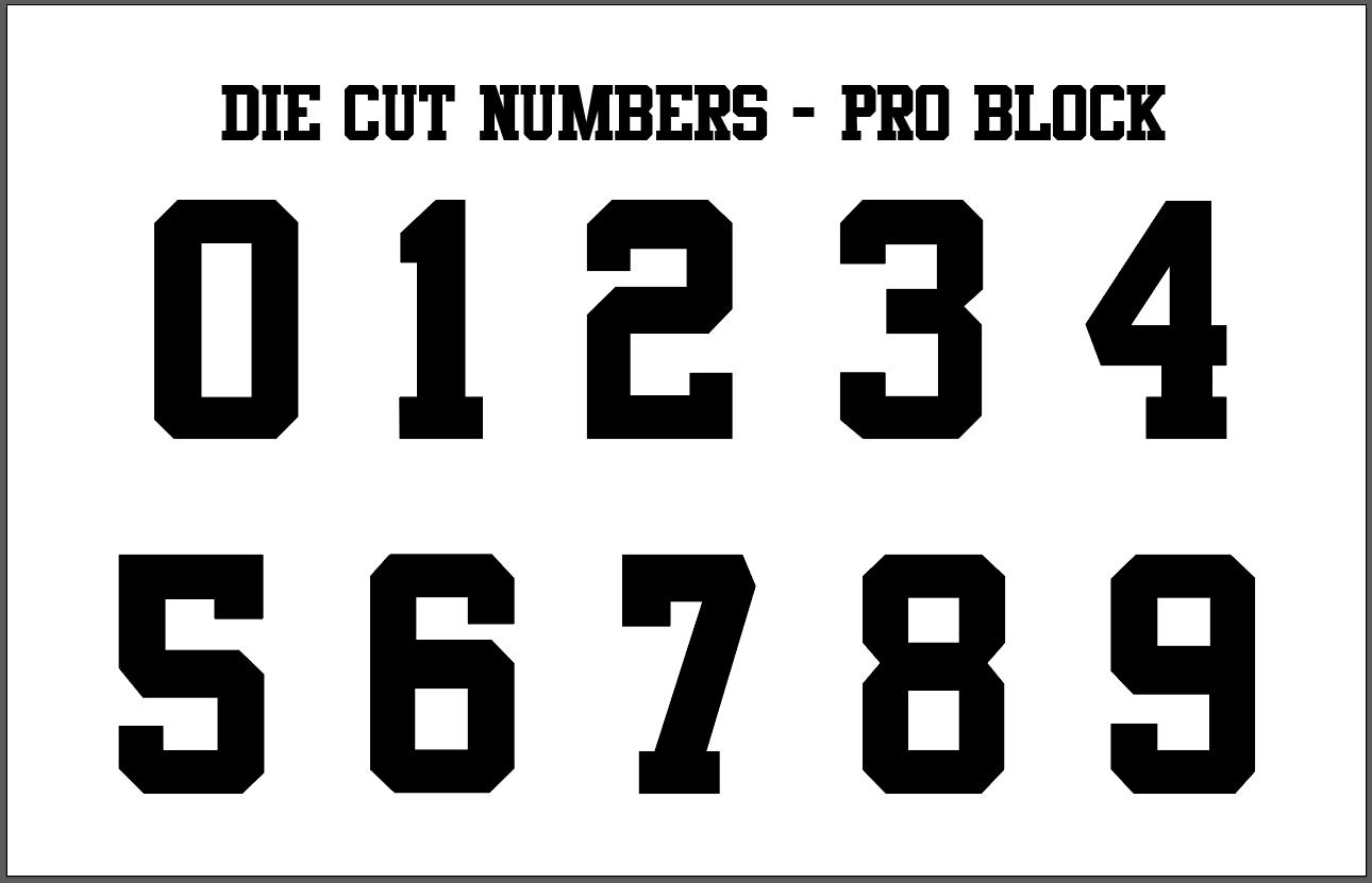 One Color Die-Cut Number Kits (0-9)