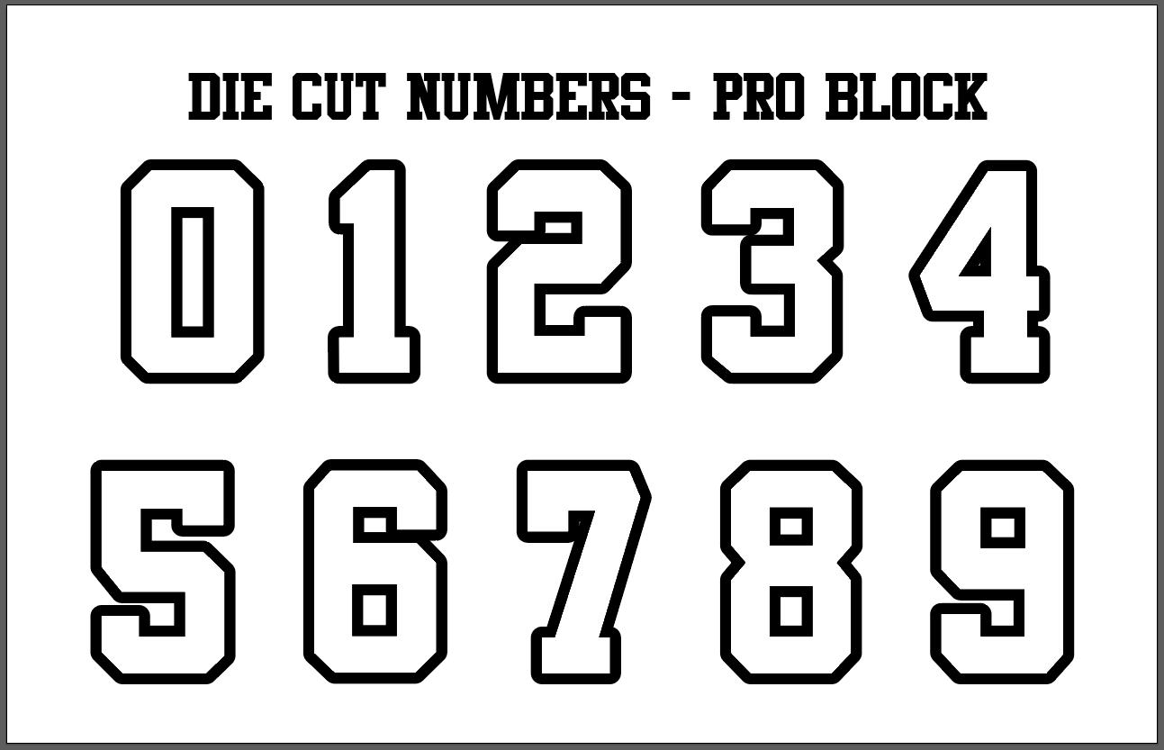 Two Color Die-Cut Number Kits (0-9)